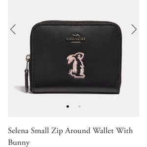 Coach x Selena small zip around wallet